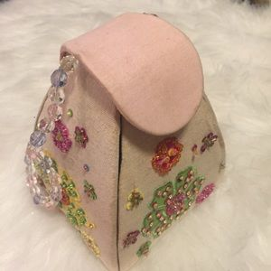 Hand Embroidered and Beaded Special Occasion Bag